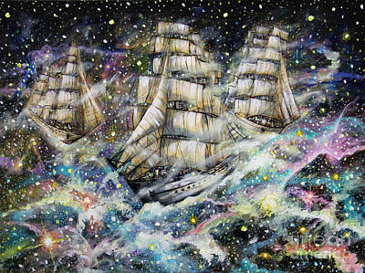 Sailing Among The Stars Art Print