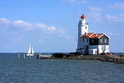 Photograph - Marken Lighthouse The Netherlands by Aidan Moran