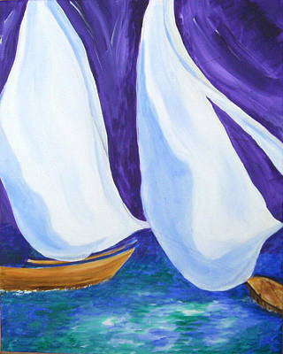 Impressionist Landscapes - Sailing at Cowes by Jean Tatton Jones