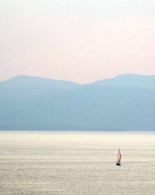 Photograph - Sailing At Dusk by Ishana Ingerman