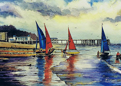Water Colour Painting - Sailing At Penarth by Andrew Read