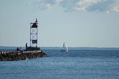 Photograph - Sailing At Southport Harbor by Margie Avellino