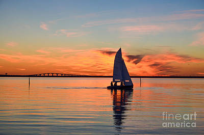 Sailing At Sunset Art Print by Kennerth and Birgitta Kullman
