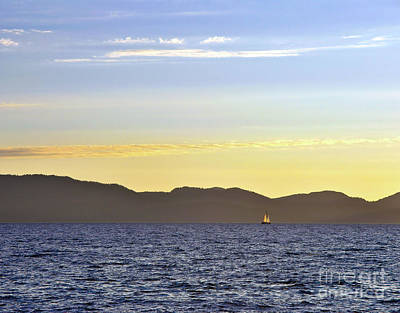 Photograph - Sailing At Sunset - Lake Tahoe by John Waclo