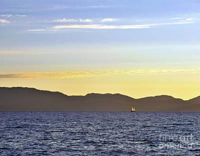 Sailing At Sunset - Lake Tahoe Art Print