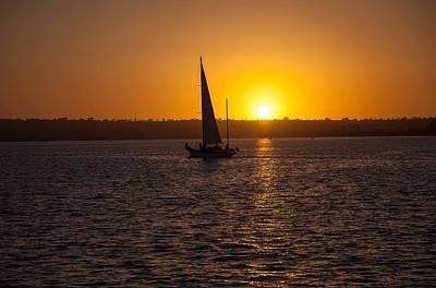 Photograph - Sailing At Sunset by Margaret Buchanan