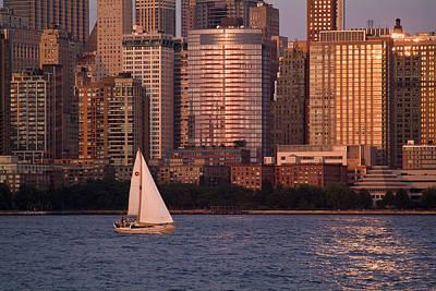 Photograph - Sailing At Sunset by Michael Dorn