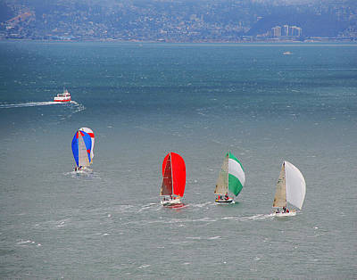 Photograph - Sailing At The Golden Gate by Tom Kelly