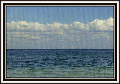 Sailing At The Skyway Art Print by Laurie Perry