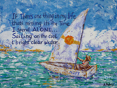 Painting - Sailing by Audrey Peaty