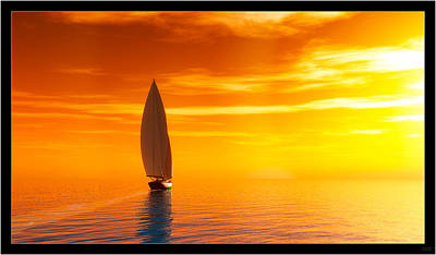 Digital Art - Sailing Away II... by Tim Fillingim