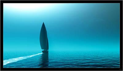 Digital Art - Sailing Away Iv... by Tim Fillingim