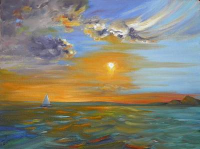 Painting - Sailing Away by Sharon Casavant