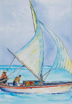 Painting - Sailing Belize by Patricia Beebe