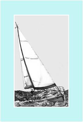 Sailing Freedom On A Reach Art Print