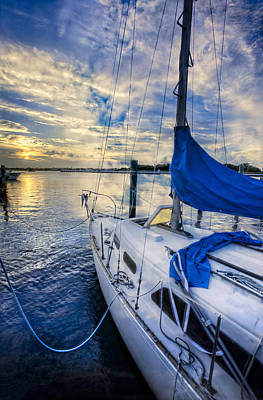 Delray Photograph - Sailing Blues by Debra and Dave Vanderlaan