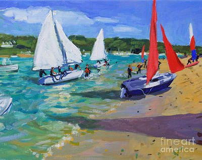 Painting - Sailing Boats by Andrew Macara