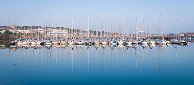 Photograph - Sailing Boats In The Howth Marina by Semmick Photo