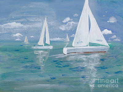 Painting - Sailing Boats by Robin Maria Pedrero