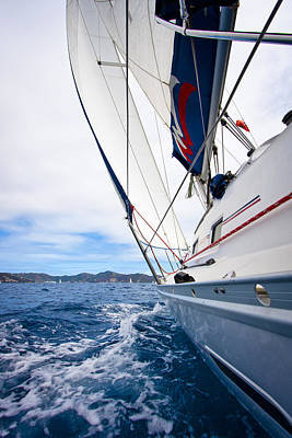 Sail Boat Photograph - Sailing Bvi by Adam Romanowicz