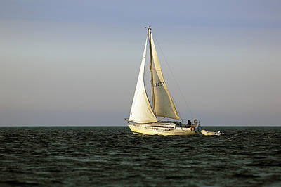 Photograph - Sailing By by Grant Glendinning