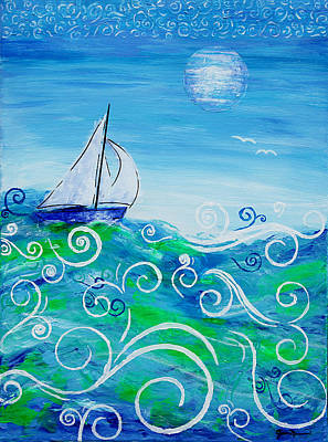 Painting - Sailing By Jan Marvin by Jan Marvin