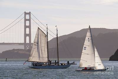 San Francisco Photograph - Sailing By The Golden Gate Bridge by Scott Cameron