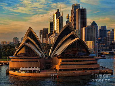 sailing by the Opera House Art Print