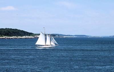 Photograph - Sailing Cape Elizabeth Maine by Patricia Urato