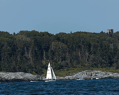 Photograph - Sailing Casco Bay by Ann Tracy