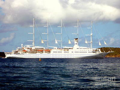 Photograph - Sailing Cruise Ship by John Potts