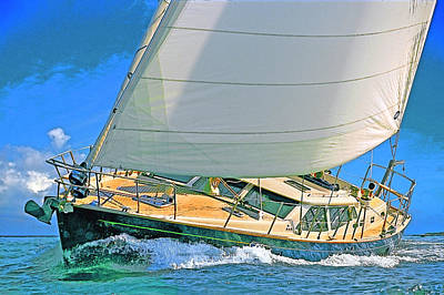 Photograph - Sailing Day by Herb Paynter