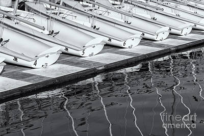 Photograph - Sailing Dinghies And Reflections II by Clarence Holmes