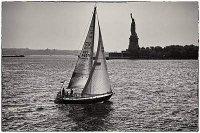 Sailing Down On Hudson Original by Eduard Moldoveanu