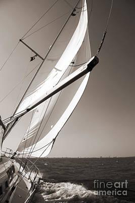 Yacht Photograph - Sailing Fast Charleston South Carolina by Dustin K Ryan