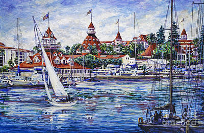 Sailing Glorietta Bay Art Print