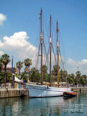 Photograph - Sailing In Barcelona by Sue Melvin