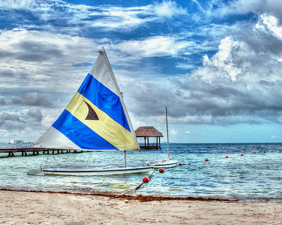 Art Print featuring the photograph Sailing In Cancun by William Havle