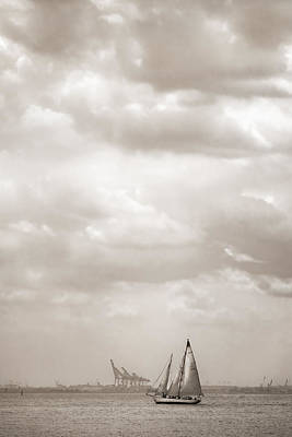 Sailing In New York Harbor - Nautical Art Print
