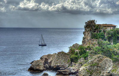 Photograph - Sailing In Sicily by CR  Courson
