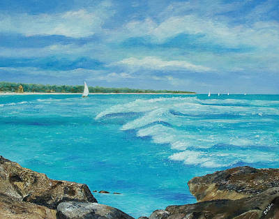 Sailing In The Bay Art Print by Susan DeLain