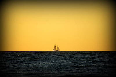 Photograph - Sailing In Venice by Laurie Perry