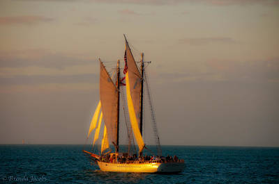 Photograph - Sailing Into The Sunset by Brenda Jacobs