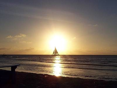 Photograph - Sailing Into The Sunset by David and Lynn Keller