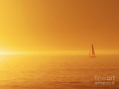 Photograph - Sailing Into The Sunset by Paul Topp