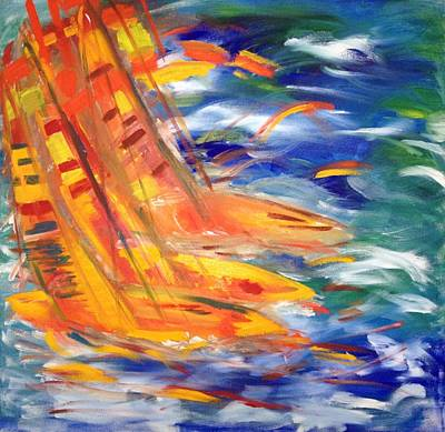 Sailing Art Print by Judi Goodwin