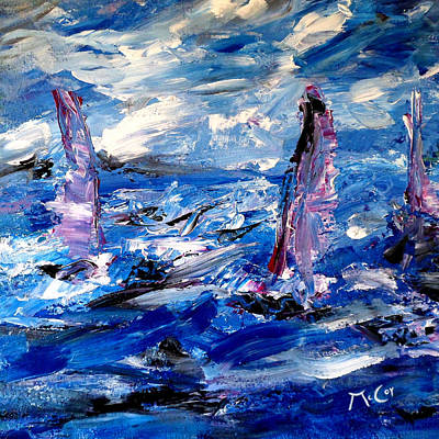 Impressionism Painting - Sailing by K McCoy