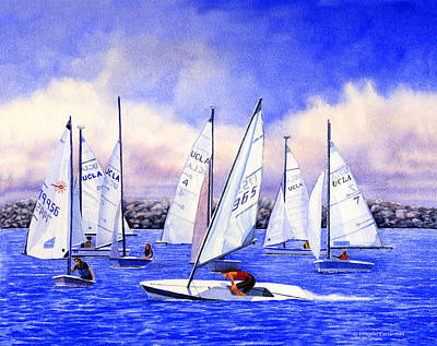 Painting - Sailing Lessons by Douglas Castleman