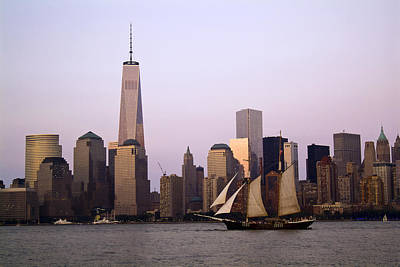 Photograph - Sailing Across Lower Manhattan by Michael Dorn