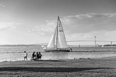 Photograph - Sailing Newport Rhode Island by Marianne Campolongo
